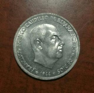 Moneda España 50 cts año 1966
