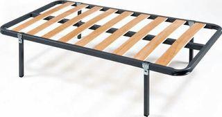 Cama somier con patas y colchón 80 X 200 cm