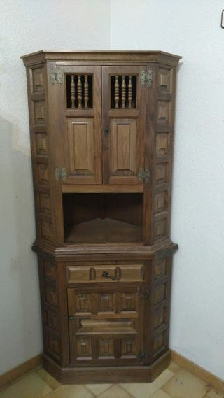 Mueble rinconera madera 2 piezas