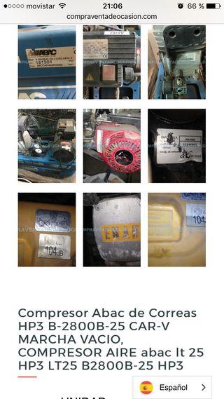 Compresor Abac de Correas HP3 B-2800B-25