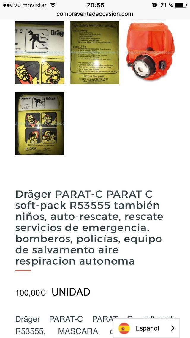 Dräger PARAT-C PARAT C R53555 equipo respiración