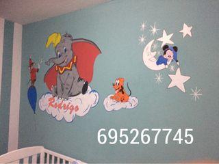 Dibujos murales infantiles y comerciales