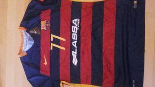 camiseta barcelona firmada