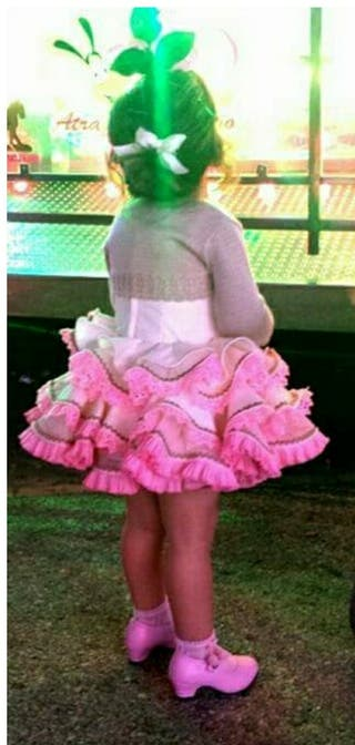 Traje flamenca niña. Cortito estilo marisol