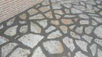 hormigón impreso, piedra natural.