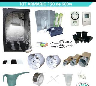 Kit completo cultivo 120x120 y 600W nuevo