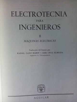 Vendo libro: Electrotecnia para ingenieros