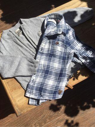 Conjunto chaqueta camisa bebé
