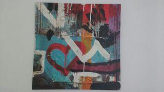 Cuadro decoración lienzo, 90x90.