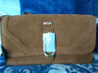 Bolso mini Misako. Antelina color Camel