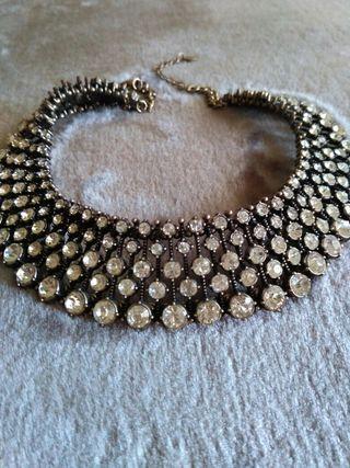 182a3587df1d Collar Zara cristales de segunda mano en Madrid en WALLAPOP