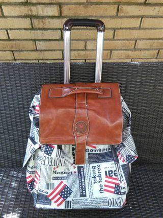 maleta..bolso de viaje vintage con ruedas