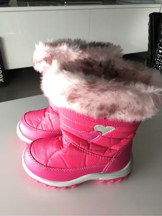 Botas nieve niña talla 25 impermeables borreguito