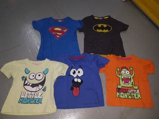 camisetas niñ@ talla 4