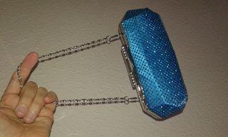 por mano turquesa azul de de Bolso fiesta segunda 8 mano Ffq8x75nw