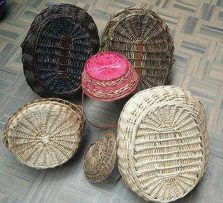 Cestas de mimbre decoración, artesanal
