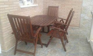 Conjunto mesa jardín