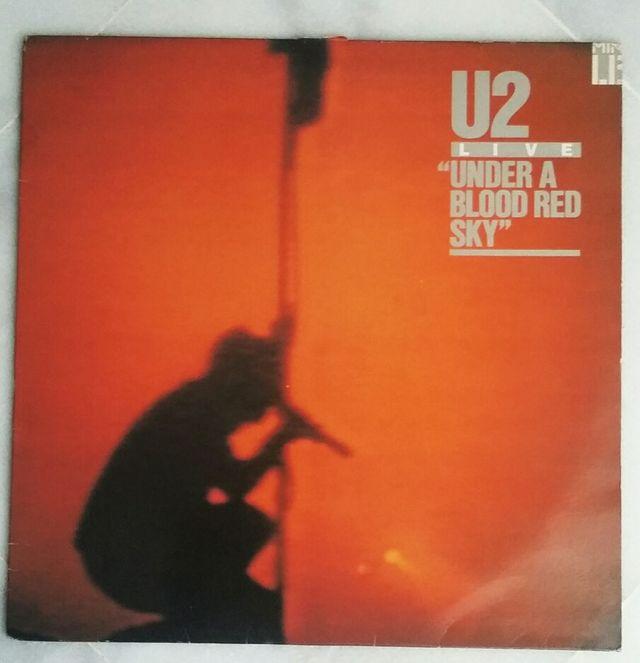 "Disco vinilo U2 ""Under a blood sky"""