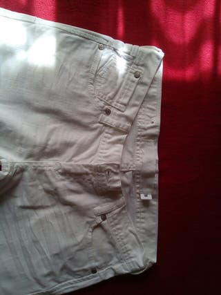 Jeans blancos Zara Talla 38