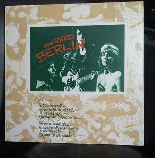 "Disco vinilo Lou Reed ""Berlin """