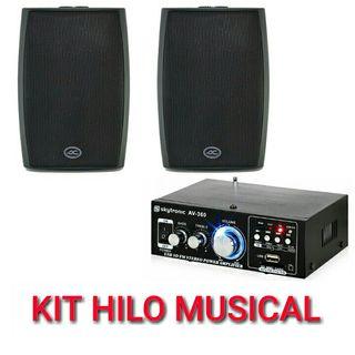 KIT HILO MUSICAL CON ALTAVOCES DE PARED NUEVO.