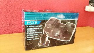 Soporte Multiplayer con mando DVD para PS2 Slim