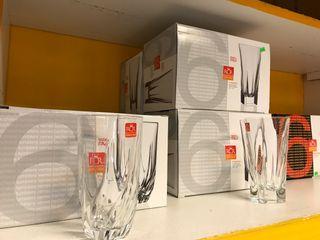 Vasos de cristal tallados baratos