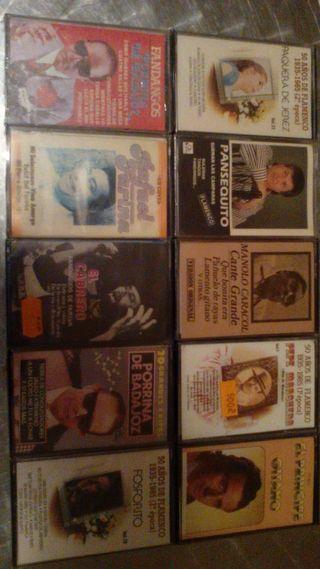 Lote de 10 cintas de cassete de flamenco (NUEVAS)