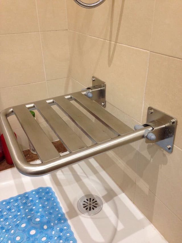 Asiento abatible para baño
