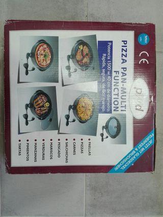 Paella paellera eléctrica Pizza Pan tapa de crista