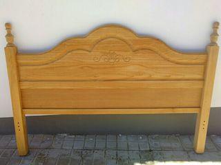 Cabecero de madera para cama doble