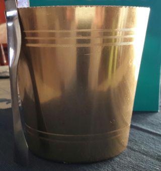 cubitera vintage de aluminio anodizado champagne
