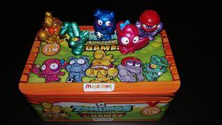 Caja de lata naranja mas 5 zomlings exclusivos