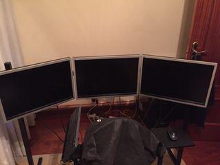3 pantallas HD AOC + soporte