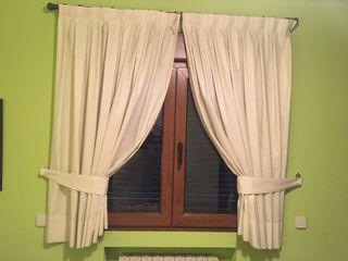 Doble cortina en crema claro