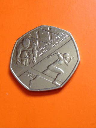 50p coin commonwealth games Glasgow 2014