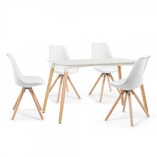 Pack mesa 120x80 y sillas comedor Nordicas