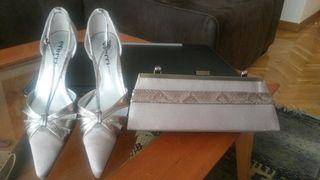 Zapatos y bolso vestir