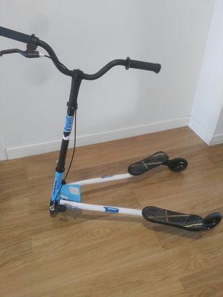 patinete 3 ruedas, azul
