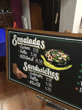 Lettering ,Blackboard art ,Custom .