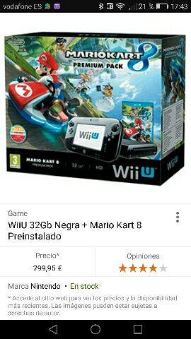 Wiiu nueva con factura de Enero 17