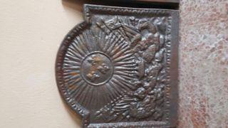 Trasfuego placa hierro fundido chimenea decoracion