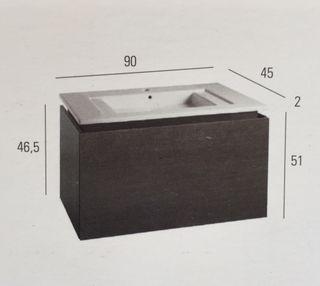 Mueble y lavabo ceramico