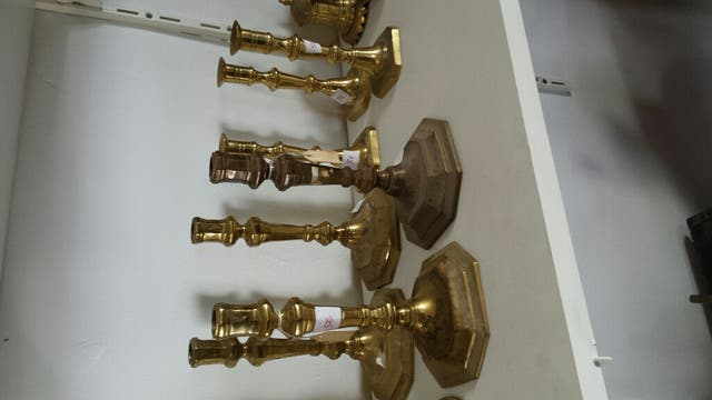 candelabro bronce