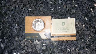 Moneda de plata V Centenario Serie I 5000pts 1989