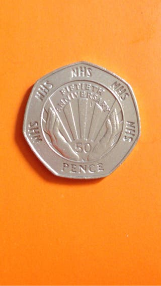 50p coin NHS 1998.