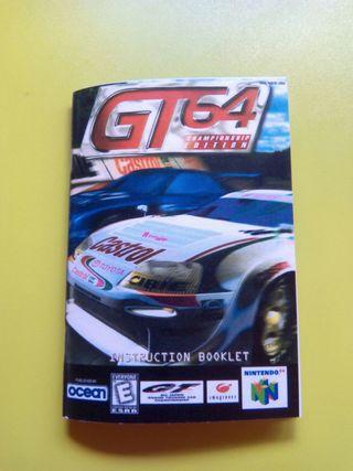 manual juego n64