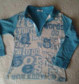 Camiseta azul pitufo