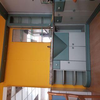 mueble baño lacado DM verde svarosky