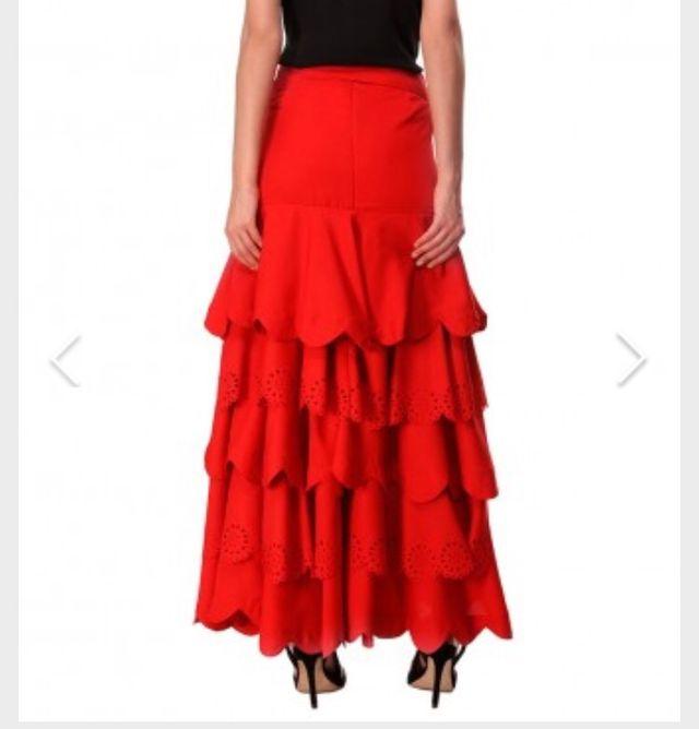 Almatrichi falda larga roja con volantes nueva de segunda mano por ... a8411315b9a7